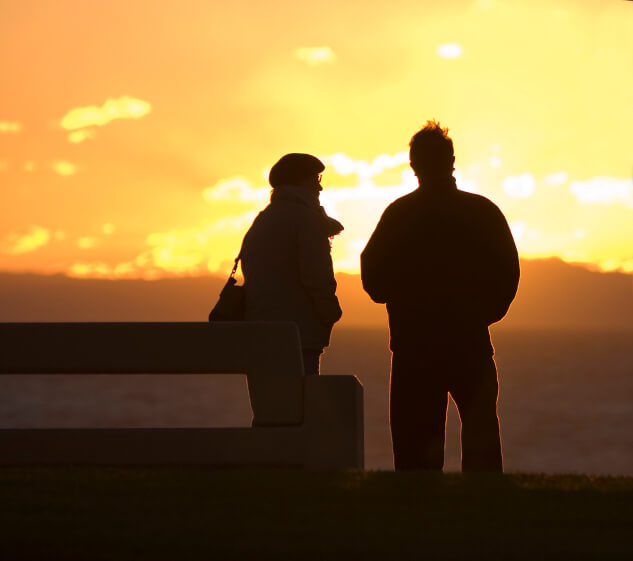 Orange County Couple watch a Sunset